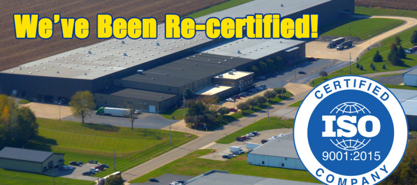 Miami Valley Steel has earned 9001:2015 Certification!