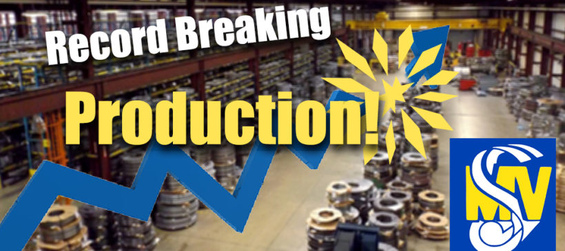 Record Breaking Production in January 2018!